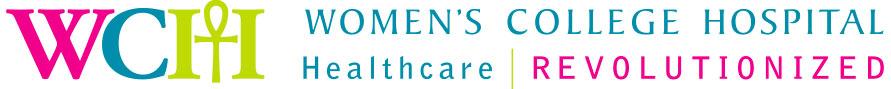 Women's College Hospital logo. Tagline: Healthcare Revolutionized